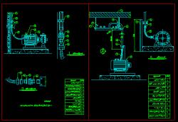 دانلود نقشه اتوکد جزییات نصب و دمونتاژ برق پمپ های آب و ...