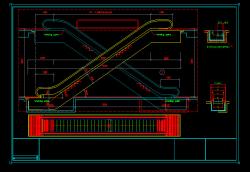 دانلود فایل اتوکد جزییات و دیتایل اجرای پله برقی معماری